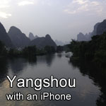 YANGSHOU with an iPhone